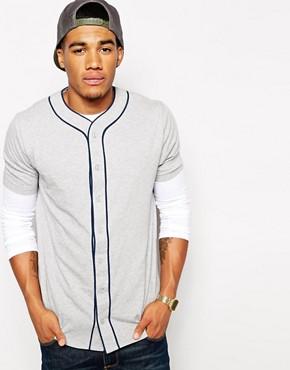ASOS T-Shirt With Baseball Placket