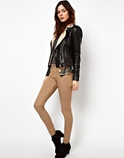River Island Molly Jean Skinny In Sand