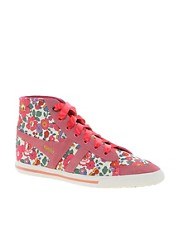 Gola Liberty Quota Betsy Pink High Top Trainers