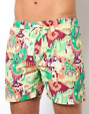 Scotch &amp; Soda Smudge Pattern Swim Shorts