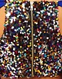 Image 3 of Paprika Body-Conscious Dress with Multi Sequin Back