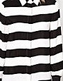 Image 3 ofASOS Shirt With Monochrome Bold Stripe Print