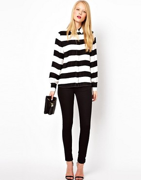 Image 4 ofASOS Shirt With Monochrome Bold Stripe Print