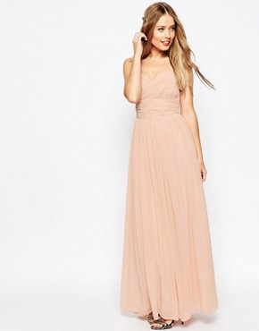 ASOS WEDDING Ruched Panel Maxi Dress