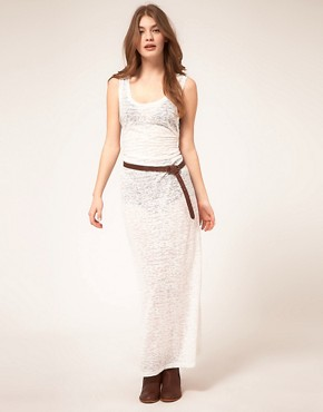 Image 1 ofZoe Tee&#39;s Devore Burnout Maxi Dress