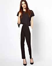Just Female Trousers With Contrast Pannel