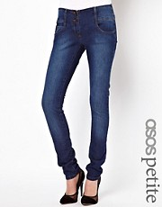 ASOS PETITE Super Sexy Skinny Jeans in Vintage Wash