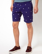 Selected  Bestickte Shorts