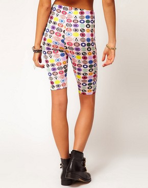 Image 2 of Martine Rose for ASOS Shorts In Badge Print