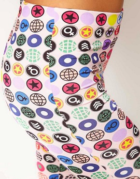 Image 3 of Martine Rose for ASOS Shorts In Badge Print