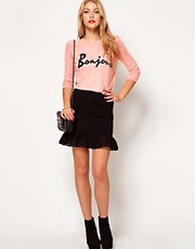 ASOS Mini Skirt with Dropped Peplum Hem