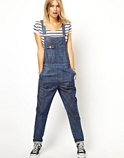 ASOS Dark Wash Denim Dungarees