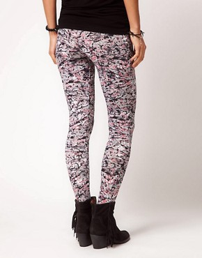 Image 2 ofASOS Leggings in Paint and Scribble Print