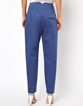 Image 2 ofASOS Trousers With High Waisted Zip Front