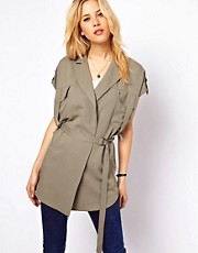 ASOS Sleeveless Jacket with Utility Detail