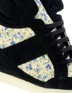 Image 2 ofASOS DENY Wedge High Top Trainers With Suede Detail