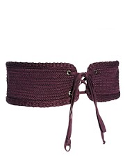 M Missoni Knitted Waist Belt with Lace Tie