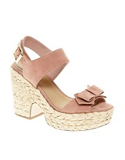 ASOS HIGH FIVE Platform Bow Sandals