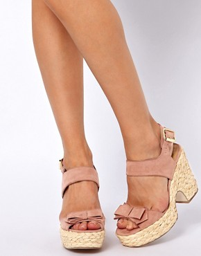Image 3 ofASOS HIGH FIVE Platform Bow Sandals