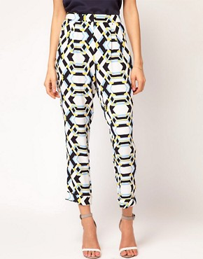Image 4 of ASOS Loose Pants in Rocco Print