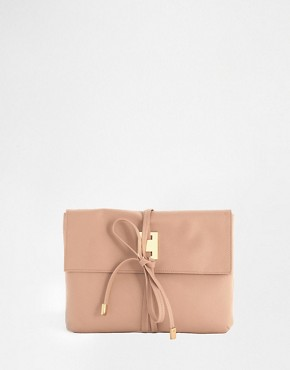 ASOS Clutch Bag With Metal Plate And Wrap