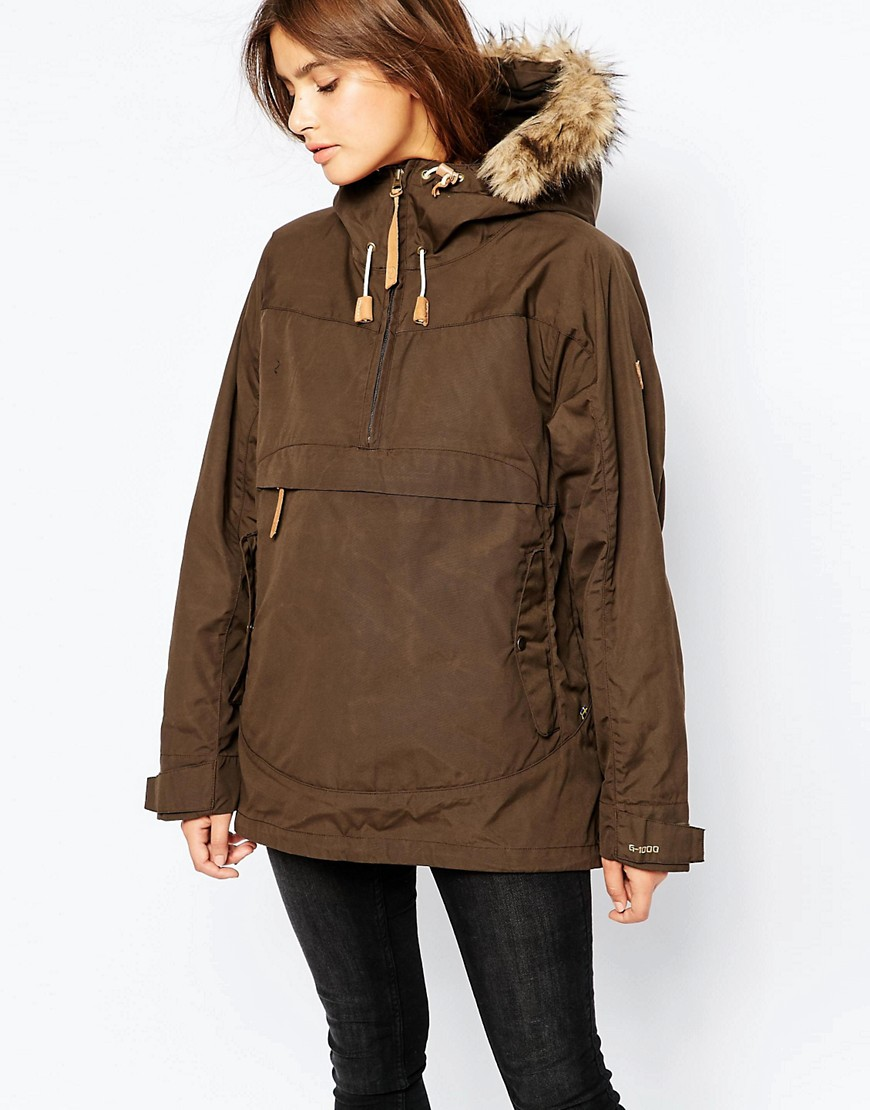 Image 1 of Fjallraven Faux Fur Trimmed Lightweight Parka