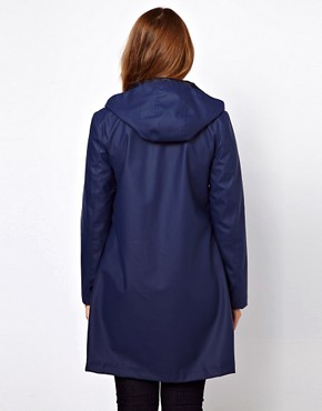 Image 2 ofASOS CURVE Rain Mac With Hood