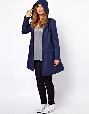 Image 4 ofASOS CURVE Rain Mac With Hood