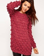 ASOS Premium Jumper In Textured Hand Knit