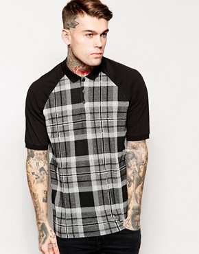 ASOS Oversized Polo With Check Panels