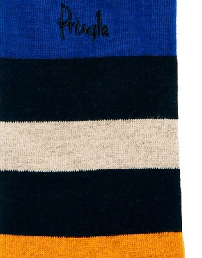 Image 2 ofPringle 3 Pack Multi Stripe Socks