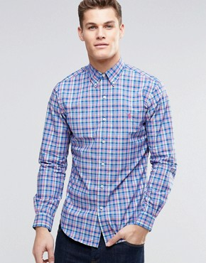 Polo Ralph Lauren Shirt In Poplin Multi Check Slim Fit