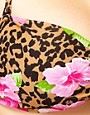 Image 3 of ASOS Animal Hibiscus Skinny Twist Bandeau Top