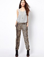 Vero Moda Leopard Print Track Pant