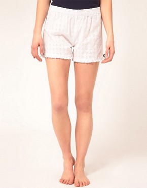 Image 4 ofEsprit White Capsule Shorts