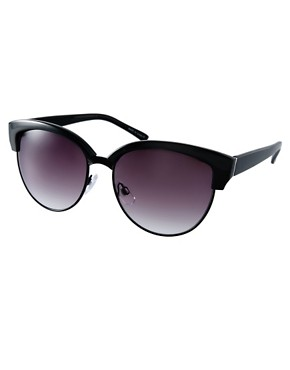Image 1 ofASOS Half Frame Angular Cat Eye Sunglasses