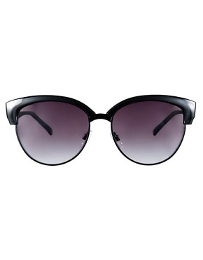 Image 2 ofASOS Half Frame Angular Cat Eye Sunglasses