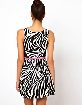 Image 2 ofLipsy Zebra Dress With Belt