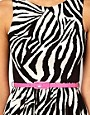 Image 3 ofLipsy Zebra Dress With Belt