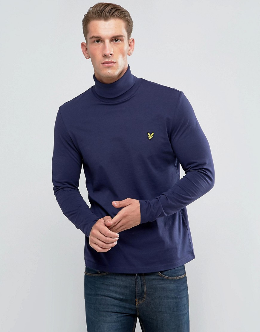 Lyle & Scott Roll Neck T-Shirt Navy - Z99 navy