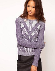ASOS Premium Jumper With 3D Plaits