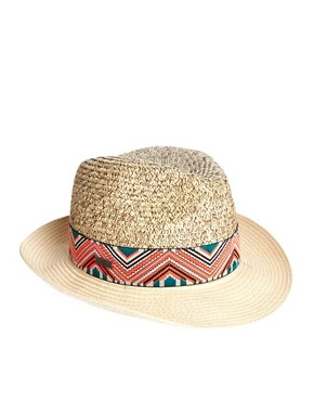 Image 2 ofMaison Scotch Aztec Trim Hat