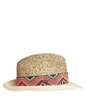 Image 4 ofMaison Scotch Aztec Trim Hat