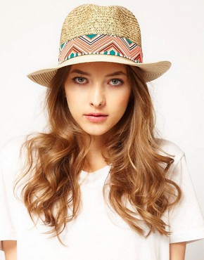 Image 1 ofMaison Scotch Aztec Trim Hat