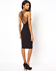 ASOS Midi Dress With Lattice Straps