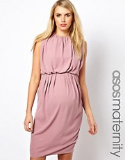 ASOS Maternity Midi Dress with Rouching
