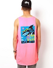Maui And Sons Vest Deco Back Print