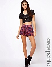 ASOS PETITE Exclusive Aztec Print Culottes