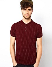 Brave Soul Polka Dot Polo Shirt