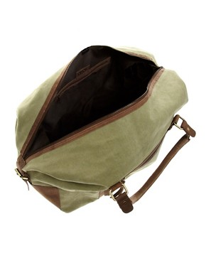 Image 4 ofASOS Canvas &amp; Leather Holdall